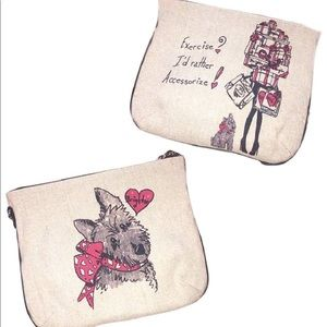Brighton Scottie Dog Crossbody Pouch Purse